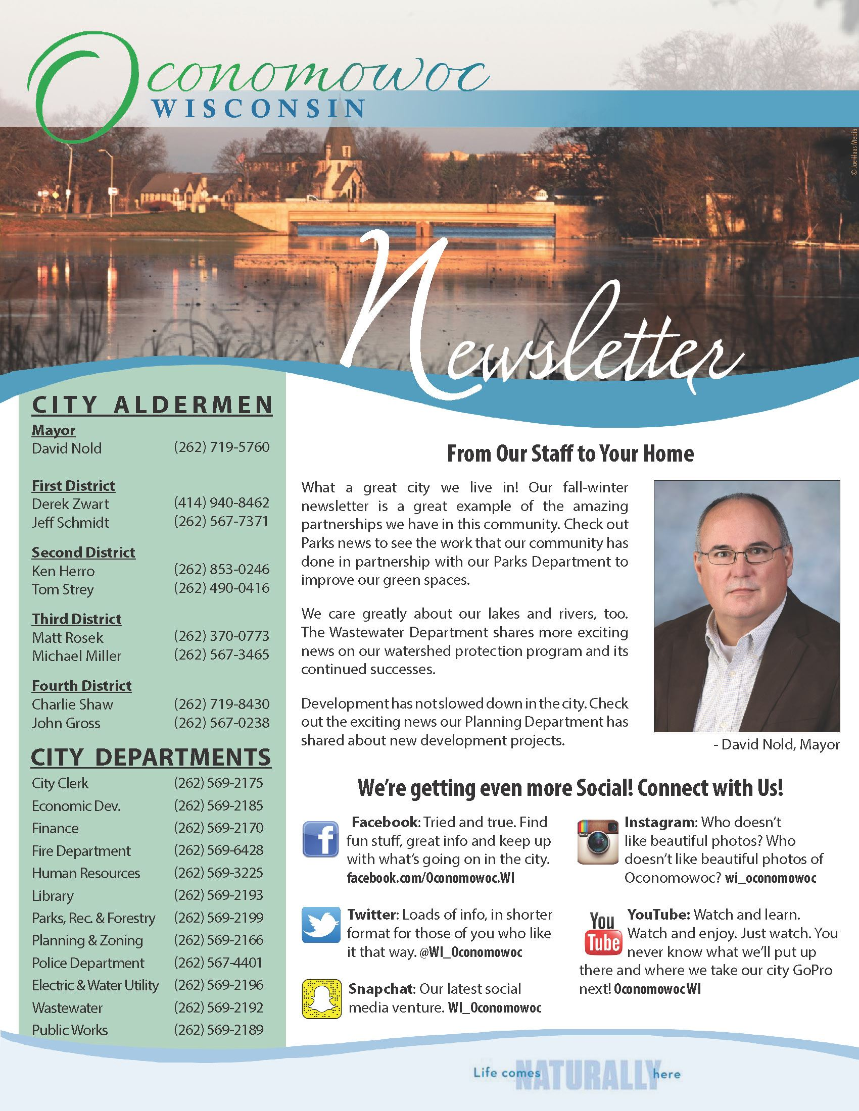 City Newsletter | City of Oconomowoc, WI   Official Website
