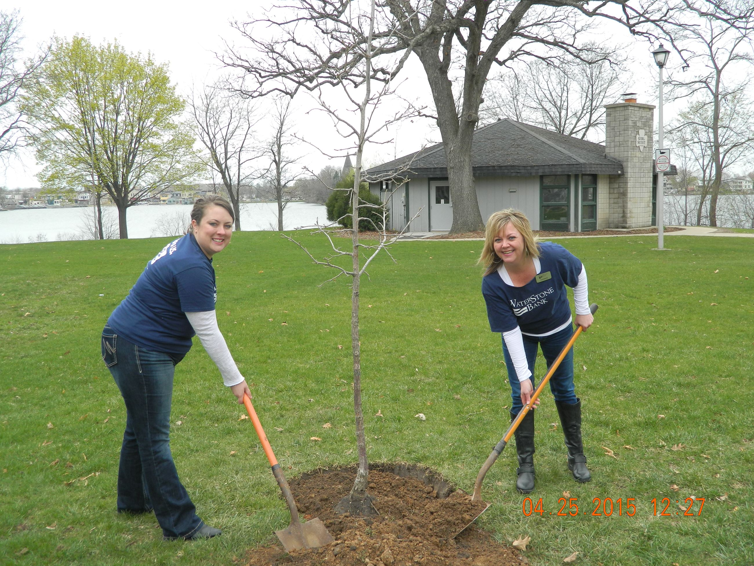 2015-04-25 Waterstone Bank Arbor Day Tree Donation (2)