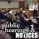 Public Hearings & Notices