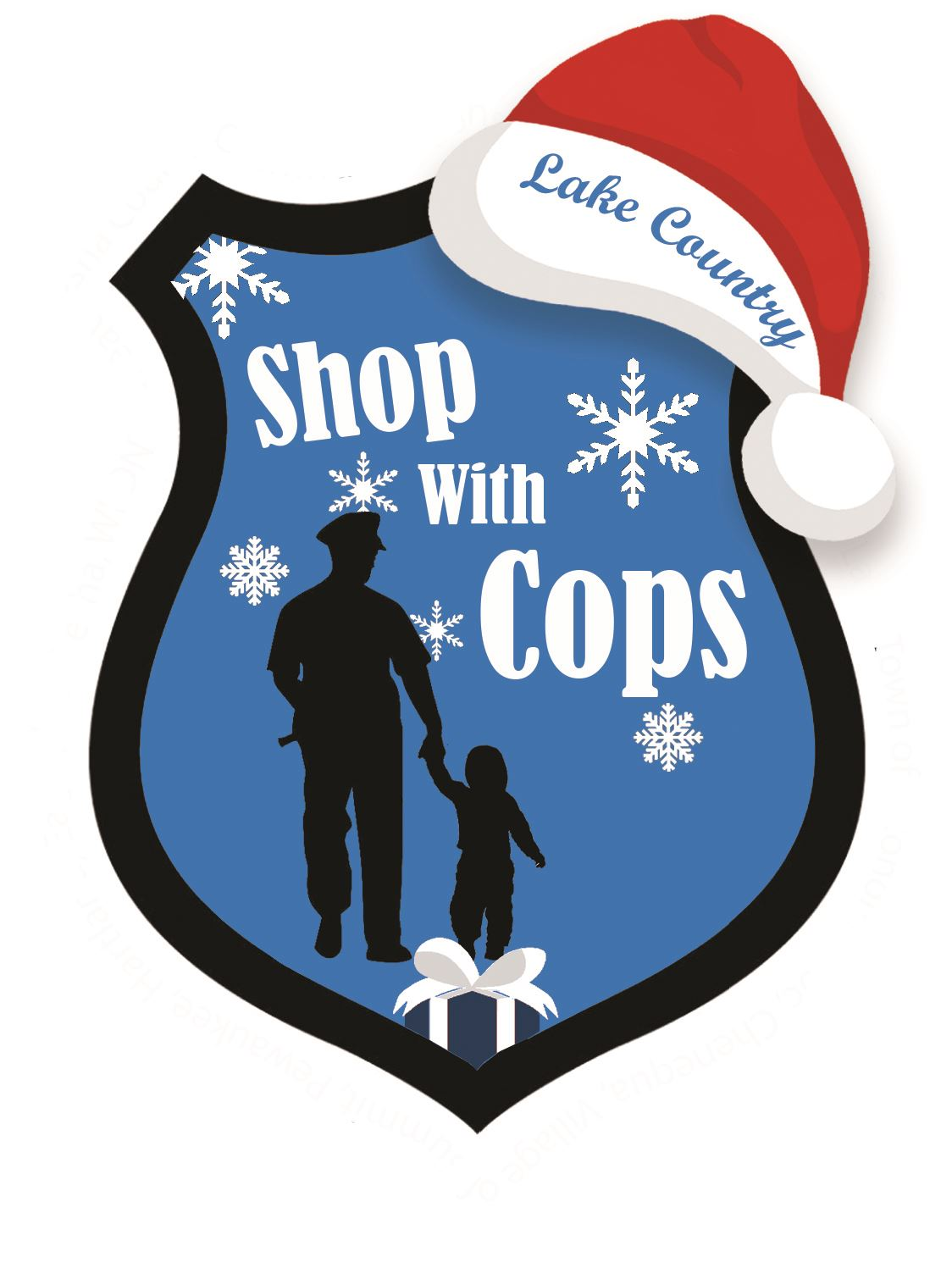 Shop with the Cops santa hat